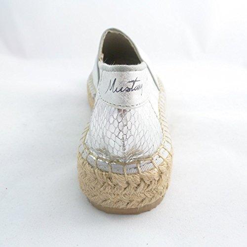 Mustang Shoes Damen Schuhe Espadrilles Halbschuhe Silber (21 Silber) (39)