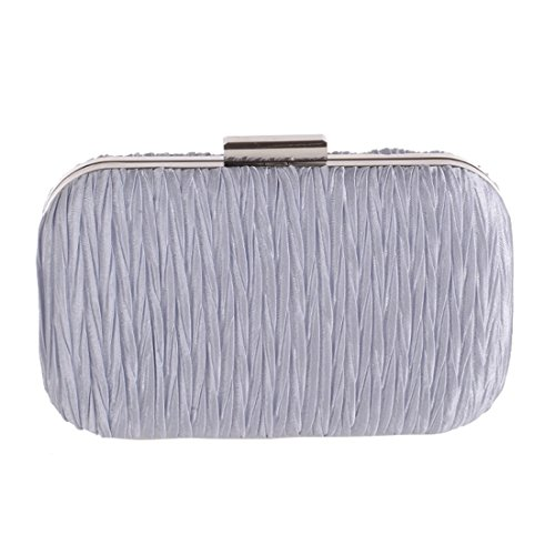Pleated Evening Bag Bag 216 Simple Bag European Shell Fly Bag American Evening Bag Hard Evening Silver Female and New Pouch Ladies Black Color Clutch RwAwqtY