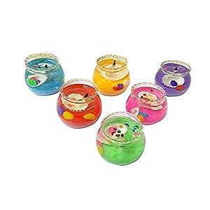 ThirteenKcanddle Mini Matki Gel Glass Pot Candle Unscented Set of 6 pcs