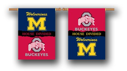 """NEOPlex 28"""" x 40"""" Outside House Banner - Michigan/Ohio State House Divided"""
