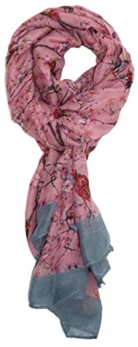 Songs Jack (Ted and Jack - Songbird Cherry Blossom Print Scarf (Rose))