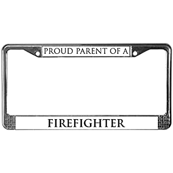 Amazon.com: CafePress - Proud Parent: Firefighter License Plate ...