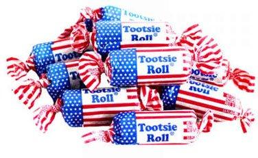 Tootsie Rolls Flag (Tootsie Roll - Chocolate - American Flag Wrapper, 5 lbs)