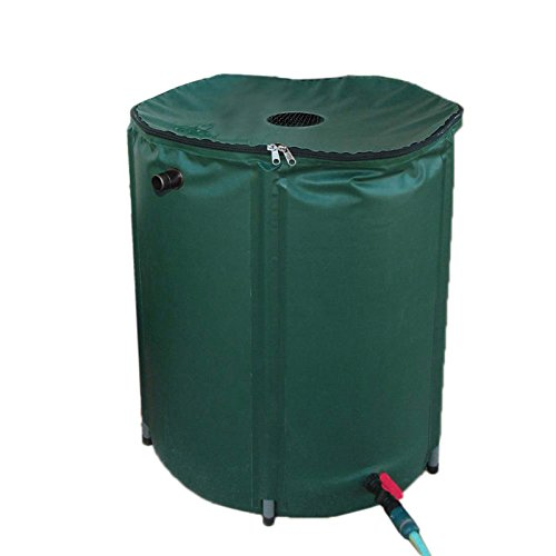 PENSON & CO. Rain Barrel 50 Gallon Garden Collapsible Water Runoff Collection Unit Spigot