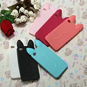 iPhone 4 4G 4S Fashion Lovely Koko Cat Soft Silicone Case Cover Skin -*- Color -- Rose Red