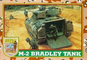 M-2 Bradley Tank trading card (Desert Storm) 1991 Topps #38 by Autograph Warehouse