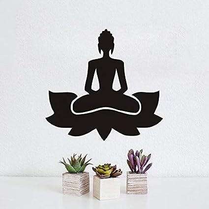 supmsds Meditar Yoga Lotus Pose Vinilo Tatuajes de Pared ...
