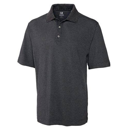 Cutter & Buck Men's CB Drytec Championship Polo, Charcoal, Medium