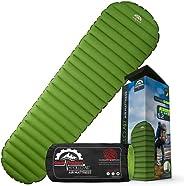 Ultralight 17oz Camping Sleeping pad- Gear Doctors ApolloAir - Compact , Warm 5.2 R-Value 4 Season Air Mattres