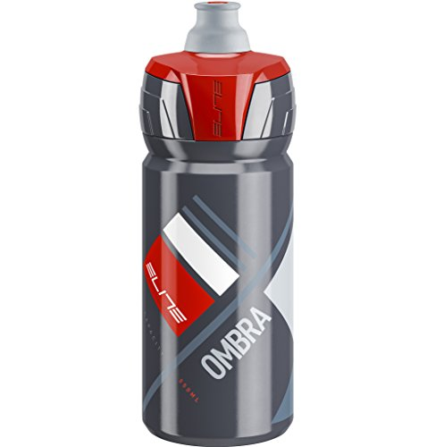 Elite Ombra Bicycle Water Bottle - 550ml (GREY red graphic)