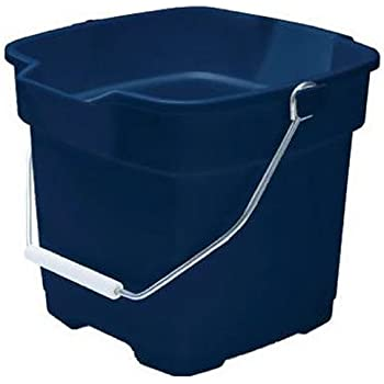Rubbermaid FG296400ROYBL Roughneck Square Bucket, 12-Quart, Blue