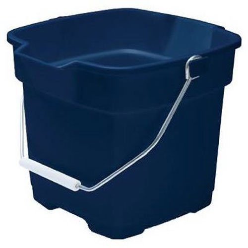 Rubbermaid FG296400ROYBL Roughneck Square Bucket, 12-Quart, (12 Quart Bucket)