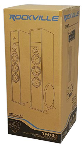 Rockville TM150B Black Home Theater System Tower Speakers 10'' Sub/Blueooth/USB by Rockville (Image #8)