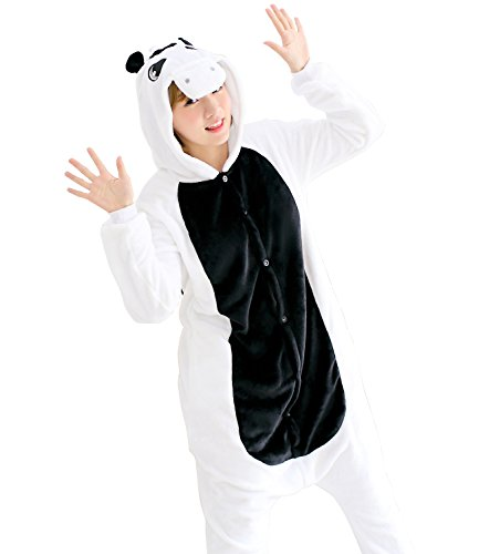 Sensfun Cute White Unicorn Onesie Winter Autumn Spring Pajamas Maternity Sleepwaer For Women/Men(White (Winter Soldier Costume Female)