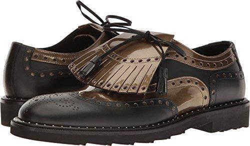 Dolce & Gabbana Men's Metallic Oxford Black/Gold - Dolce Shoes Gabbana Gold