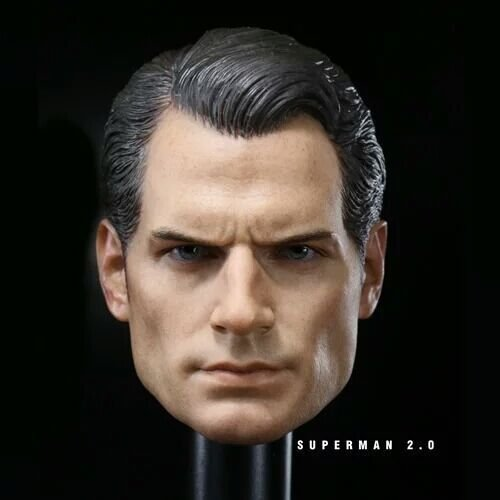 "Shallen 1:6 Scale Superman Henry Cavill Head Sculpt Fit 12"" Male Action Figure Body"