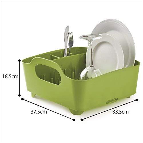 Umbra 330590-806– Escurridor de platos y vasos, 36x32,5x15,5cm, color verde
