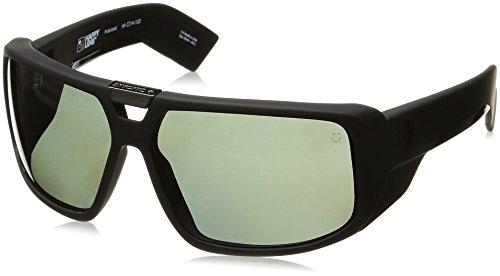 Spy Optic Touring Wrap Sunglasses, Soft Matte Black/Happy Gray/Green Polar, 64 (Polar Collection)
