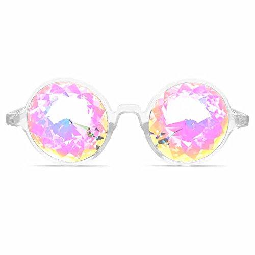 GloFX Clear Kaleidoscope Glasses- - Clear Kaleidoscope