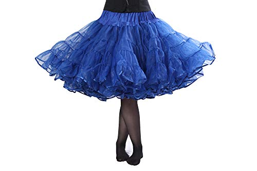 - Michelle Knee Length Petticoat - Our Fullest Dance Petticoat for Serious Skirt Volume Vintage Clothing and Rockabilly Royal Blue