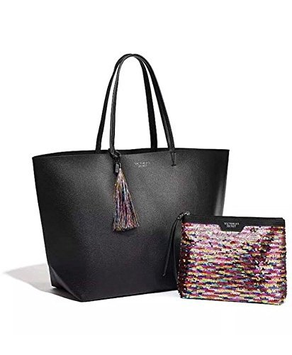 Victoria's Secret Limited edition Black Friday Tote & Mini (Elle Black Bag)