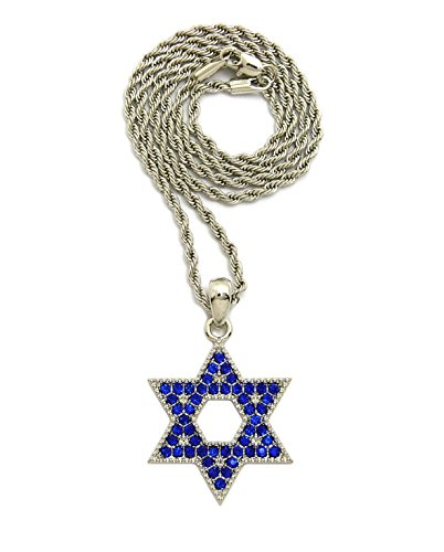 Iced Out Star - Iced Out Star of David Pendant 20