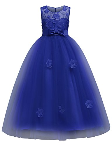 Blevonh Party Dresses for Girls Child Casual Bow