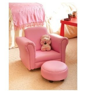 Bon Childrens/Kids PINK Rocker Armchair   Chair And Foot Stool By Home Furniture