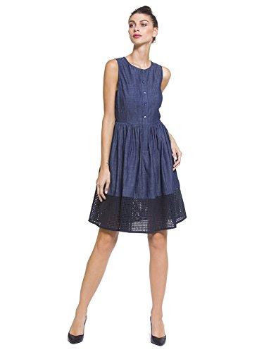 Emporio Armani Denim Emporio Damenkleid Armani Blu Blu Damenkleid ZT7qvScw1