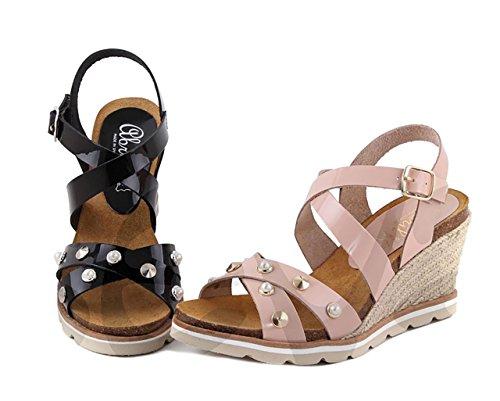Abril 9510 - Zapato Señora Piel Negro