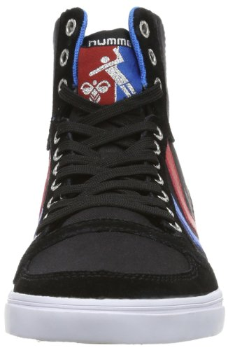 Slimmer Hummel Mixte blue red Sneakers black Noir High Stadil gum Adulte Hautes rrzqnXxdRw