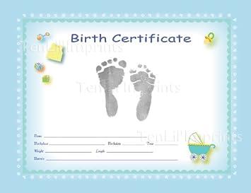 amazon tenlil imprints birth certificate kit blue black by ten