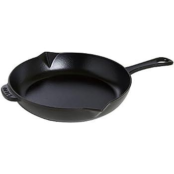 "Staub Cast Iron 12"" Fry Pan - Matte Black"