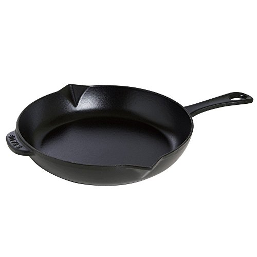 Staub 1223025 Cast Iron Fry Pan, 12-inch, Black Matte