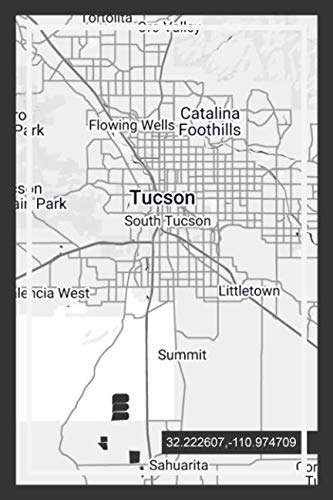 "Weekly Planner: Book With ""Tucson"" Arizona Map Cover Design ( USA )"