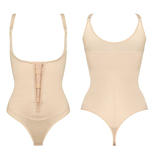 0c98b08a975 LAZAWG Women s Firm Control Thong Body Briefer Shapewear Bodysuit Body  Shaper low-cost