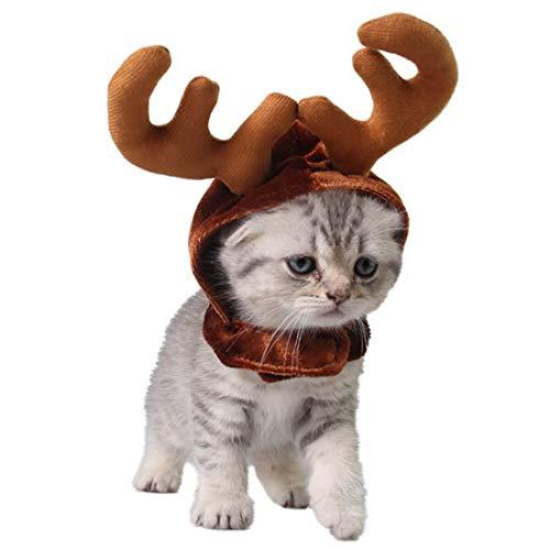 Costume Costume - Est 1pcs Headbands Dog Antlers Cap Pet Cat Hat Deer Hats Teddy Gentleman Caps Christmas Costum - Costume Costumes Christmas Care Deer Fenc Home Decor Toothbrush Sculpture Resin]()