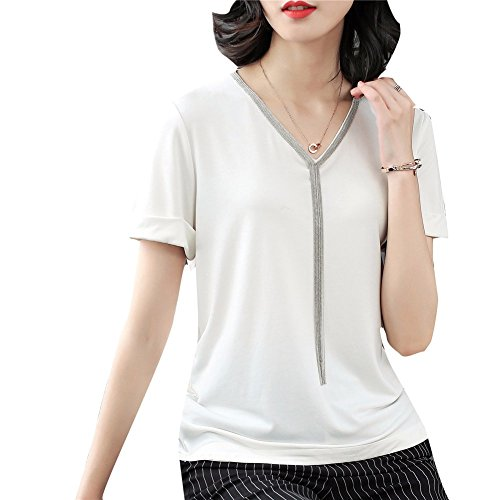 White Womenjacket Yuch T shirt Elegante V wgYXq7