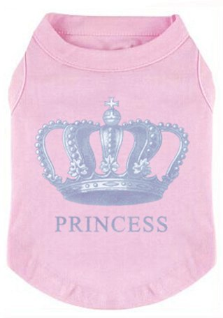 EXPAWLORER Princess Fashion Pet T-Shirt Small Dog Cat Vest Clothes Puppy Costumes for Chihuahua Yorkshire Terrier Pink XS