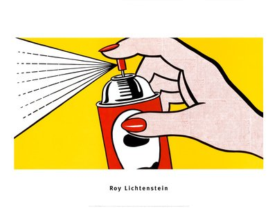 Spray, 1962 Art Poster Print by Roy Lichtenstein, 32x24