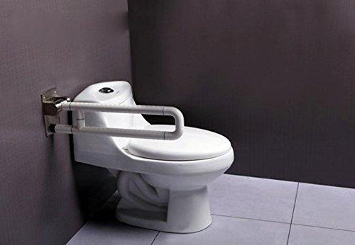 KHSKX Barrier-free anti-bacteria nylon handrails of disabled persons, elderly toilet safety rails, folding arm-u