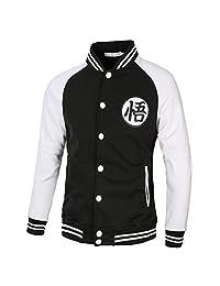 PIZZ ANNU Dragon Ball Z Son Goku Wu Word Baseball Uniform Jacket Sweater Sport Coat