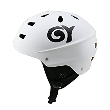 Seguridad Deportes acuáticos casco ABS Kayak canotage casco Certificado CE, blanco