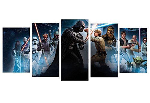 Star Wars Film design modular pictures painting wall art decor home room decoration canvas printed. Gift idea for his and her. (Big)