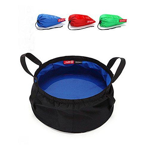 TATEELY 8.5L Outdoor Travel Folding Camping Washbasin Ultra-light Portable Basin Bucket Bowl Sink Washing Bag Hiking Water Bucket (blue) by TATEELY (Image #9)