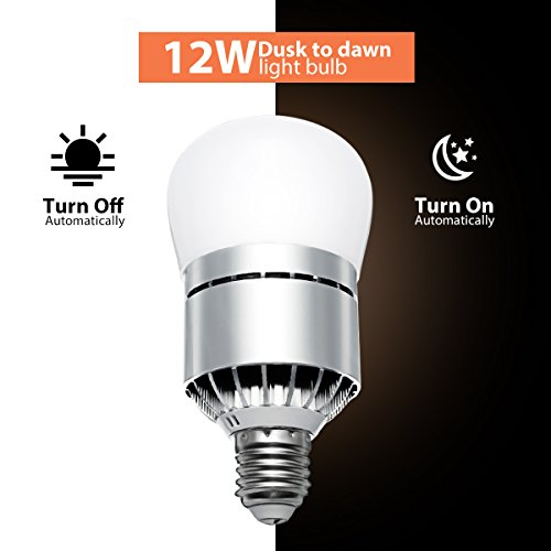 LED Dusk to Dawn Light Bulb, Elfeland Smart LED Photo Sensor Lights Bulb Auto on/off Switch for Indoor/Outdoor Lighting Lamp Night Light Security Light