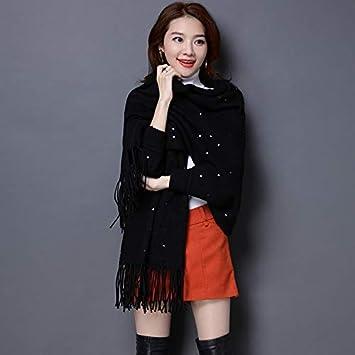 f4652c993257 JwlqAy Écharpe d hiver Femme Manteau châle Manteau frangé écharpe Femme  Double Usage avec Veste