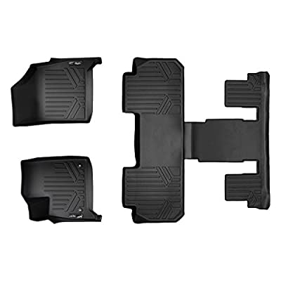 MAXLINER Floor Mats 3 Row Liner Set Black for 2020-2020 Buick Enclave with 2nd Row Bucket Seats: Automotive