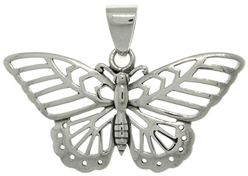 Jewelry Trends Sterling Silver Butterfly Flight Pendant -