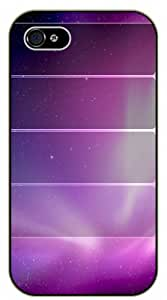 iPhone 5C Purple space and lines - black plastic case / Space, Stars, Fantasy